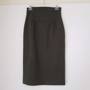 Laundry Shelli Segal High Waisted Army Green Skirt